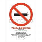 Tilos a dohányzás! (5 nyelvű)