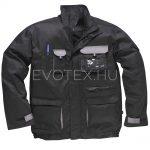 Portwest® Texo Contrast TX10 kabát – fekete